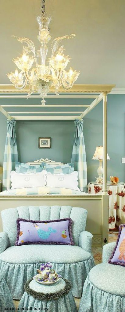 blue interior kids room